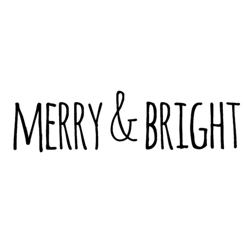 Tim Holtz Rubber Stamp  BOLD SCRIBBLE MERRY & BRIGHT Stampers Anonymous D6-2708 Preview Image