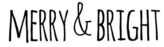 Tim Holtz Rubber Stamp  BOLD SCRIBBLE MERRY & BRIGHT Stampers Anonymous D6-2708 zoom image