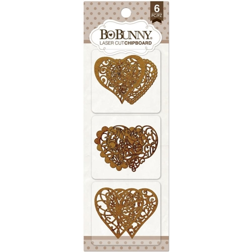 BoBunny HEARTS Laser Cut Chipboard 12815172 Preview Image