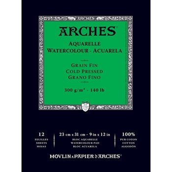 Arches COLD PRESSED WATERCOLOR PAD 140lb 012852