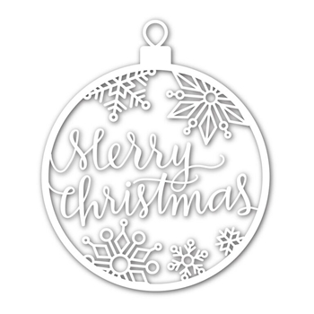 Simon Says Stamp MERRY CHRISTMAS ORNAMENT Wafer Dies sssd111497