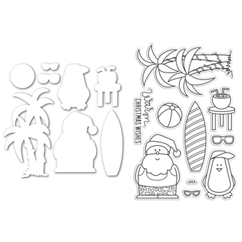 Simon Says Stamps and Dies Set SANTA AT THE BEACH SetSB222 *