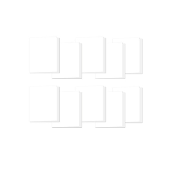 Simon Says Stamp WHITE 4 BAR Scored Cards 120# 10 Pack