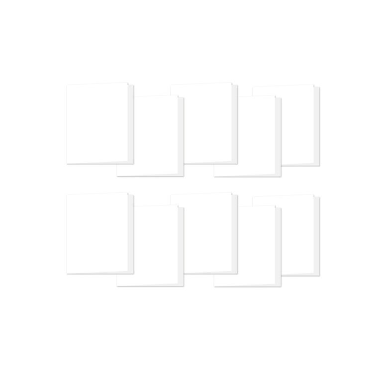 Simon Says Stamp WHITE 4 BAR Scored Cards 120# 10 Pack zoom image