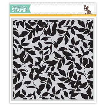 Simon Says Cling Stamp LEAVES BACKGROUND sss101529