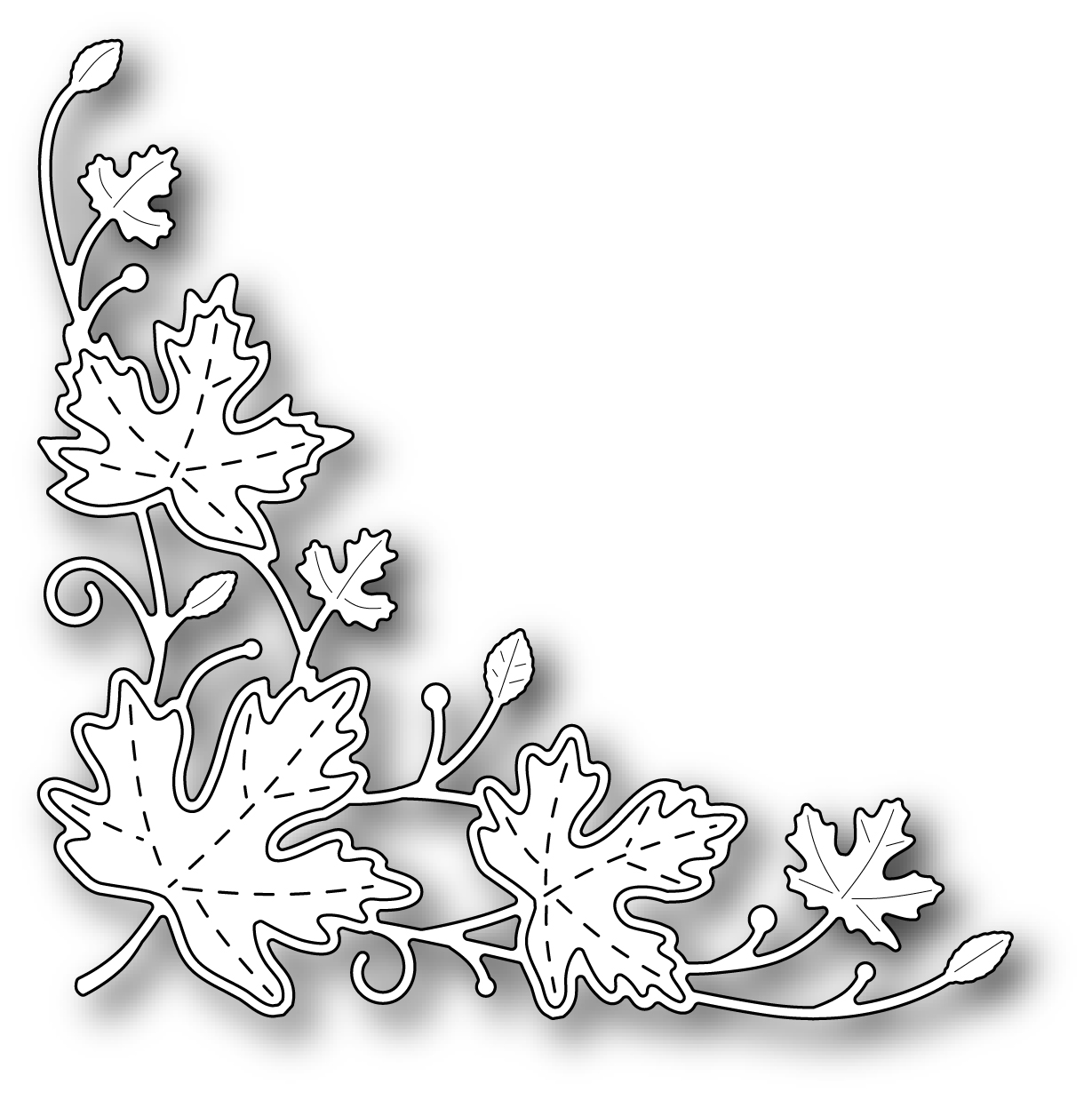 Simon Says Stamp MAPLE LEAF CORNER Wafer Die s315 Preview Image
