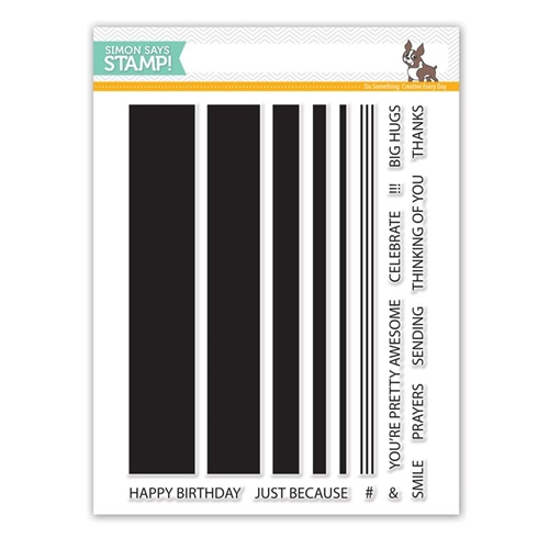 Simon Says Clear Stamps JUMBO STRIPES sss101553 Preview Image