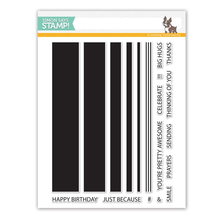Simon's Exclusive Jumbo Stripes Clear Stamp Set
