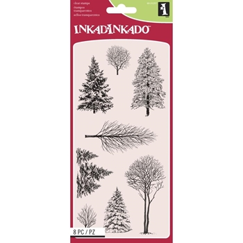 Inkadinkado Clear Stamp WOODLAND WONDERLAND Set 60-31297