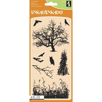 Inkadinkado Clear Stamp HAUNTED FIELDS 60-31289