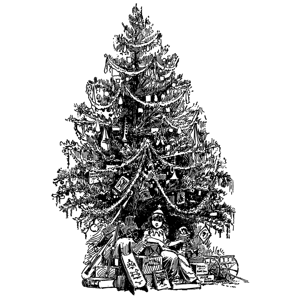 Tim Holtz Rubber Stamp  VINTAGE TREE Stampers Anonymous U1-2694 zoom image