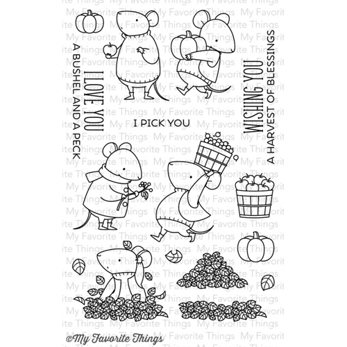 My Favorite Things HARVEST MOUSE Clear Stamps BB24 Preview Image