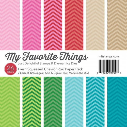 My Favorite Things FRESH SQUEEZED CHEVRON 6x6 Paper Pack 01089 Preview Image