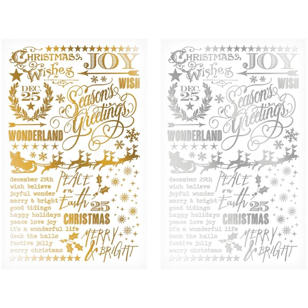 Tim Holtz Idea-ology GILDED HOLIDAYS Remnant Rubs TH93250  zoom image
