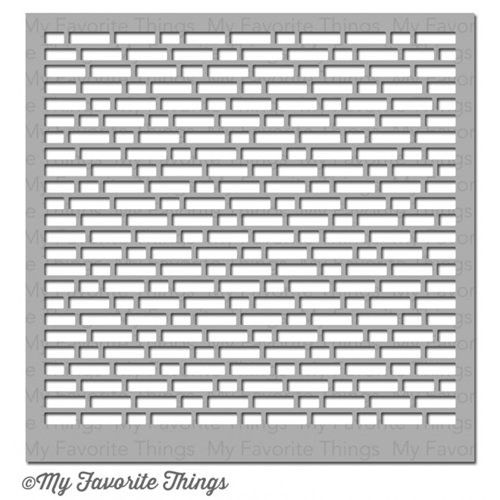My Favorite Things ENGLISH BRICK WALL Mixables Stencil MFT ST82 Preview Image