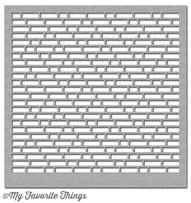 My Favorite Things ENGLISH BRICK WALL Mixables Stencil MFT ST82 zoom image
