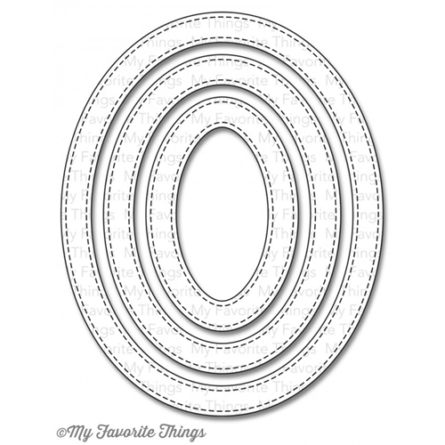 My Favorite Things STITCHED OVAL FRAMES DIe-Namics MFT642 Preview Image