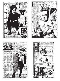 Tim Holtz Rubber Stamp KIDS CUBE Winged Stampers Anonymous cb25 zoom image
