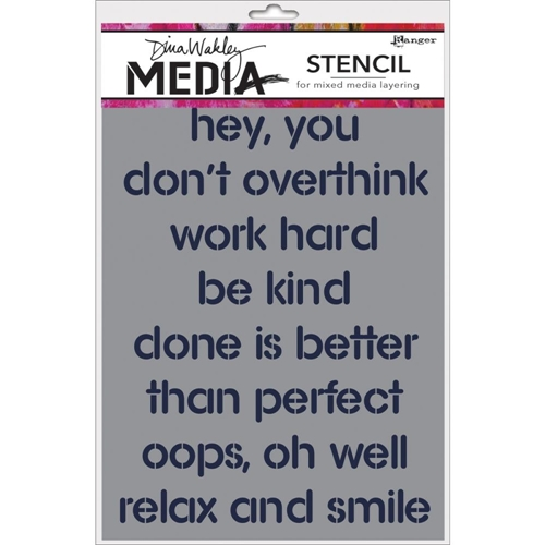 Dina Wakley HEY YOU Media Stencil MDS47483 Preview Image