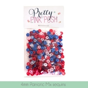 Pretty Pink Posh 4MM PATRIOTIC MIX Cupped Sequins zoom image