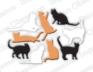 Impression Obsession Steel Die MINI CATS Set DIE328-G Preview Image