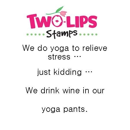 Two-Lips Stamps WE DO YOGA Clear Stamp TL106-03 Preview Image