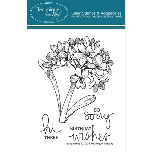 Technique Tuesday AGAPANTHUS Clear Stamps 02221* Preview Image