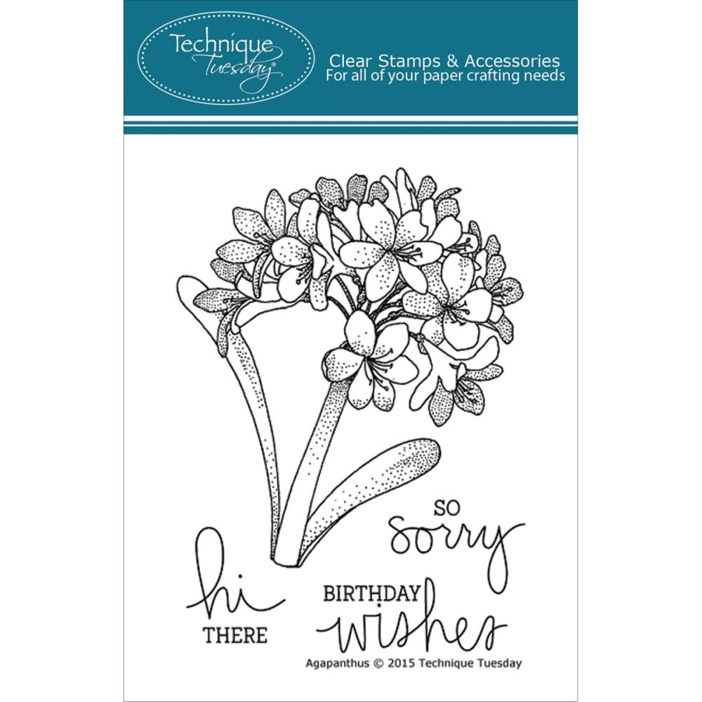 Technique Tuesday AGAPANTHUS Clear Stamps 02221* zoom image