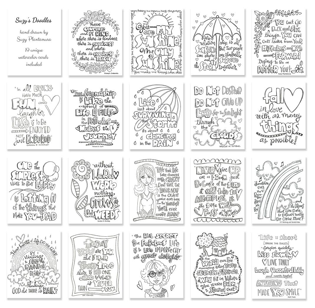 Simon Says Stamp Suzy's DOODLES Watercolor Prints SWD19 Preview Image
