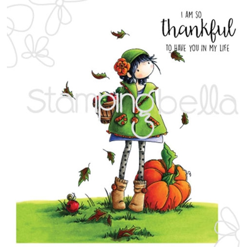 Stamping Bella Cling Stamp TINY TOWNIE FAY LOVES FALL Rubber UM eb323 Preview Image