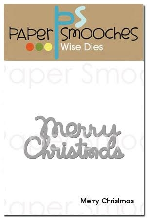 Paper Smooches MERRY CHRISTMAS Wise Die OCD273 zoom image