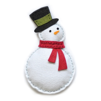Memory Box PLUSH BUNDLED SNOWMAN Craft Die 99305