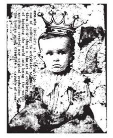 Tim Holtz Rubber Stamp LITTLE PRINCE Boy Stampers Anonymous M4-1086 Preview Image