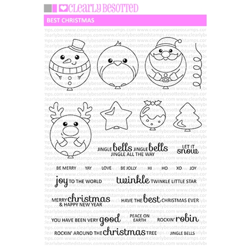 Clearly Besotted BEST CHRISTMAS Clear Stamp Set  Preview Image