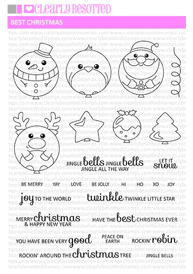 Clearly Besotted BEST CHRISTMAS Clear Stamp Set  zoom image