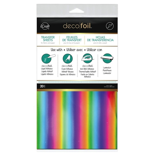 Therm O Web RAINBOW VALUE PACK Deco Foil Transfer Sheets iCraft 5304 Preview Image