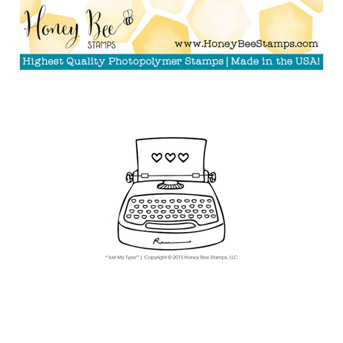 Honey Bee JUST MY TYPE Clear Stamp HBST-013 Preview Image