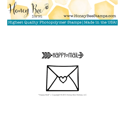Honey Bee HAPPY MAIL Clear Stamp Set HBST-012 Preview Image