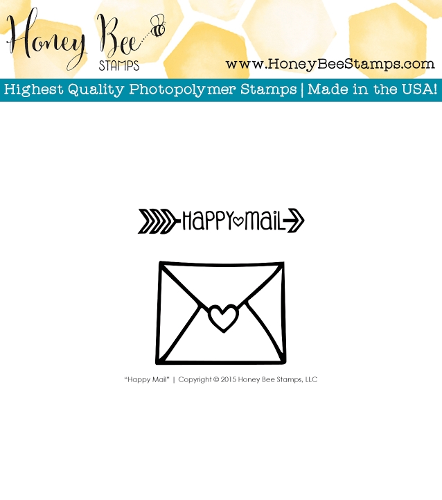 Honey Bee HAPPY MAIL Clear Stamp Set HBST-012 zoom image