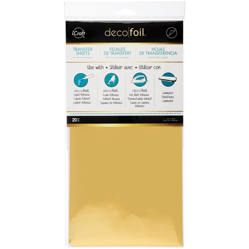 Therm O Web Deco Foil Sheets - Gold