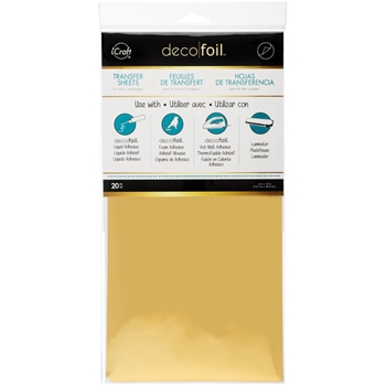 Therm O Web GOLD Value Pack Deco Foil Transfer Sheets iCraft 25102