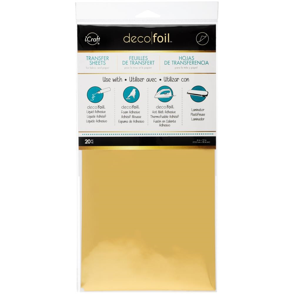 Therm O Web GOLD Value Pack Deco Foil Transfer Sheets iCraft 25102 zoom image