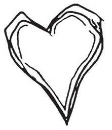 Tim Holtz Rubber Stamp SCRIBBLE HEART Love Stampers Anonymous K1-1209