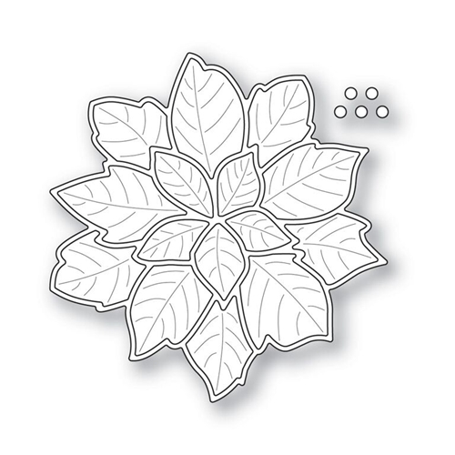 Simon Says Stamp HOLIDAY POINSETTIA with Embossed Leaves Wafer Die s312 Preview Image