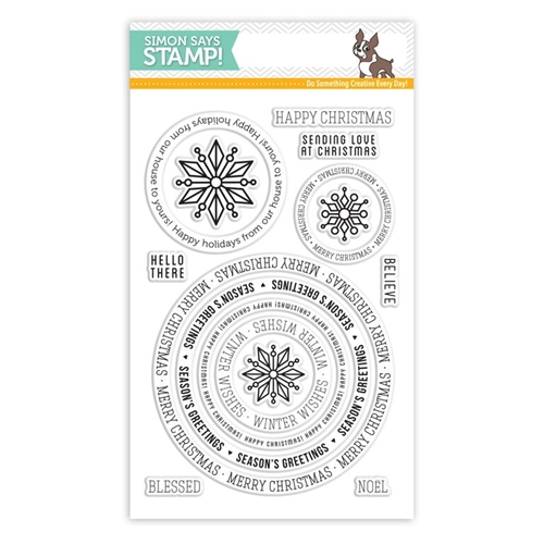 Simon Says Clear Stamps CIRCLE SAYINGS HOLIDAY sss101551 Preview Image