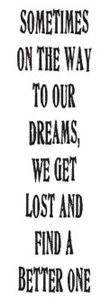 Tim Holtz Rubber Stamp SOMETIMES Dream Stampers Anonymous J3-1081 Preview Image