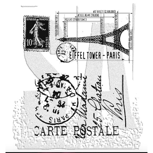 Tim Holtz Cling Rubber Stamps I SEE PARIS CMS009 Preview Image