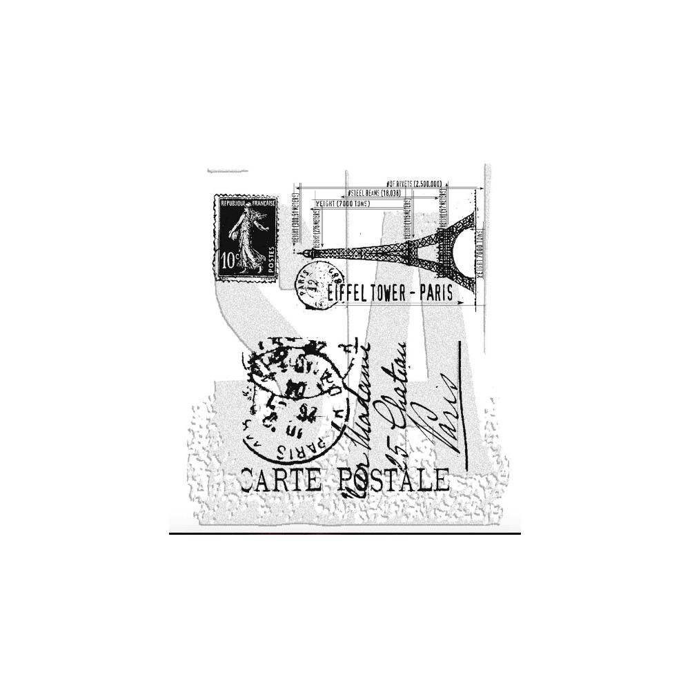 Tim Holtz Cling Rubber Stamps I SEE PARIS CMS009 zoom image