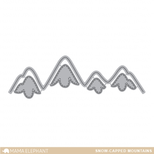 Mama Elephant SNOW CAPPED MOUNTAINS Die Creative Cuts Set  Preview Image