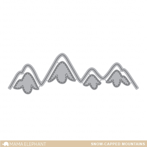 Mama Elephant SNOW CAPPED MOUNTAINS Die Creative Cuts Set  zoom image